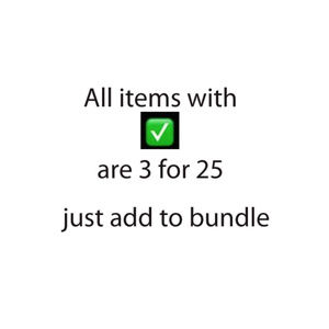 Sale 3 for 25 anything with ✅ look more deals in!